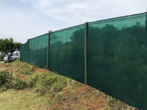 Shadecloth Site Fencing